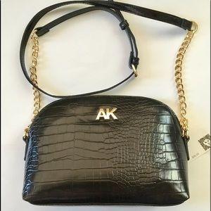 Anne Klein black bag cross body bag vegan leather